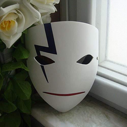 LXIANGP Harz Maske Feuer Schatten Maske Prajna Cos Schwarz Spotted A FEI Tod Gott Anime Spiel Jedi Helm Halloween Karneval Maske