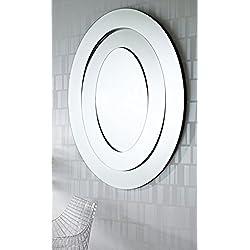 Casa Padrino espejo de lujo diseño de salón / espejo de pared 95 x H. 123 cm - Colección de Lujo