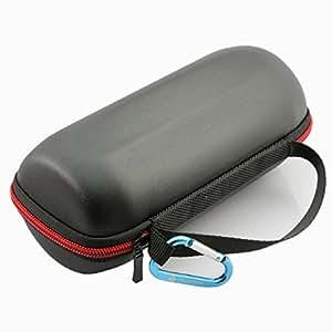 alisable Voyage Housse de transport rigide à rabat fermeture éclair portable Sac pochette pour JBL Charge 2/Plus Haut-parleur sans fil Bluetooth Noir £ ¨ £ ©