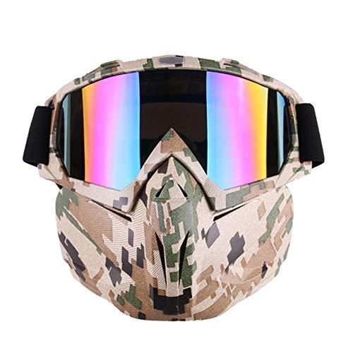 DOUWAN Motorrad Motocross Goggles Maske Dirt Bike ATV MX-Schutzbrille for Desert Offroad Riding Racing Passend for Männer Frauen Jugend Kinder, Helm Maske (Farbe : Camouflage) -