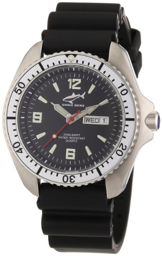 Chris Benz Men's Quartz Watch CBO.S.KB.SI with Rubber Strap