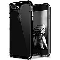 Funda iPhone 8 Plus, Funda iPhone 7 Plus, Caseology [serie Skyfall] cubierta protectora transparentee clara delgada antiaranazos con marco protector [Negro Azabache - Jet Black] para Apple iPhone 7 Plus (2016) / iPhone 8 Plus (2017)