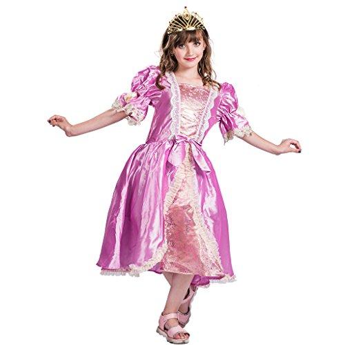 EraSpooky Mädchen Luxus Prinzessin Parteikleid Puff(Rosa, Small)