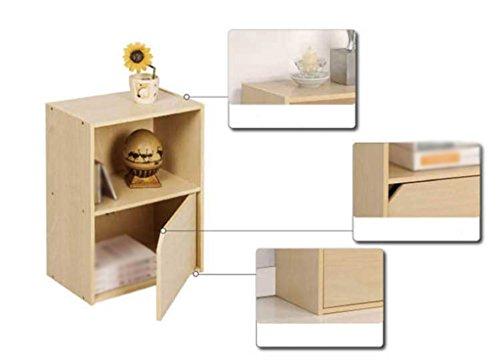 DFHHG® Estantería Librería Stand 40 * 23.8 * 54 Cm Lockers Segunda Planta Librería Madera Color durable ( Color : #1 )