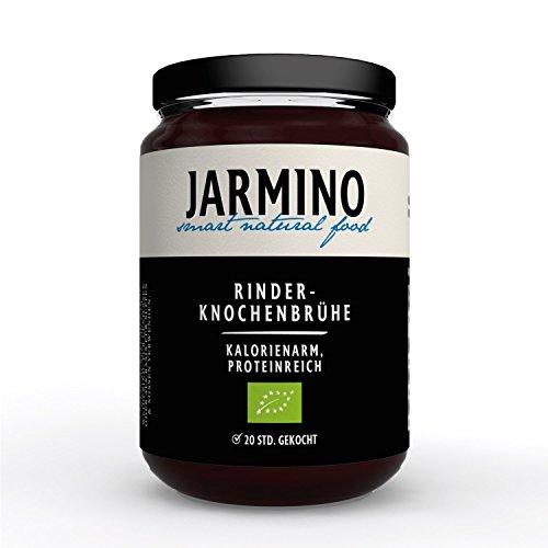 JARMINO Bio Knochenbrühe aus Weidehaltung | 12x 350ml Bone Broth | Brühe vom Rind | enthält Kollagen & Protein | Alternative zu Kollagenhydrolysat & Collagen Kapseln