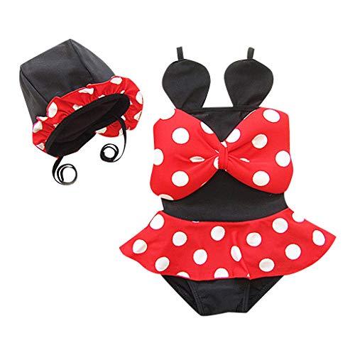 HCFKJ Bademode Baby Mädchen Kleinkind Kinder Bikini Set Dot Badeanzug Kostüm - Mutter Baby Mädchen Kostüm