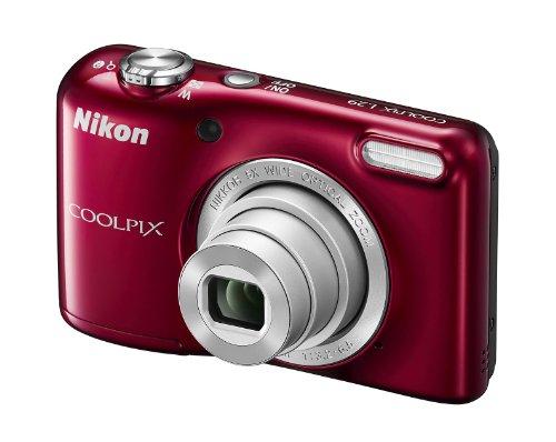 Preisvergleich Produktbild Nikon Coolpix L29 Digitalkamera (16 Megapixel, 5-fach opt. Weitwinkel-Zoom, 6,9 cm (2,7 Zoll) LCD-Display, HD) Kit inkl. 4GB Speicherkarte und Kameratasche rot
