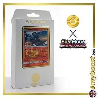 Rhyperior (Rihornior) 67/147 Wendbare Holo #myboost X Sun & Moon 3 Burning Shadows - Box mit 10 Englische Pokémon-Karten