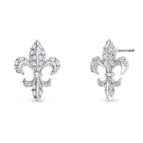 Lilie Ohrringe mit Swarovski® Kristallen