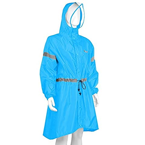 NICEAO Portable Outdoor Rain Poncho Windproof Raincoat Hooded Jackets Backpack