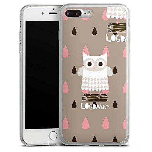 Apple iPhone X Slim Case Silikon Hülle Schutzhülle Eule Holz Stamm Silikon Slim Case transparent