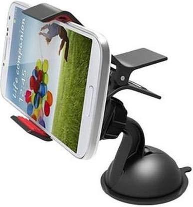 Komer s Mobile Car Holder Duck Stand Car Mobile Holder for Windshield, Dashboard  Small Black