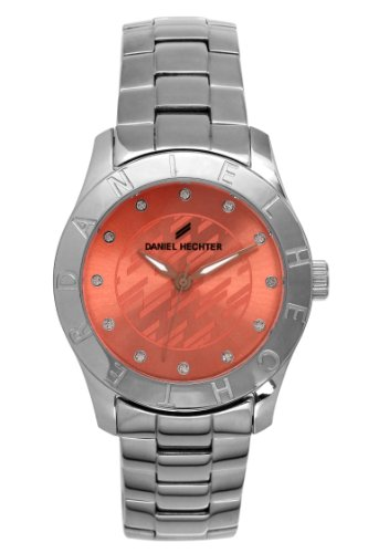 Daniel Hechter DHD 004/EM-Women's Quartz Analogue Watch-Pink Face-Silver Steel Strap