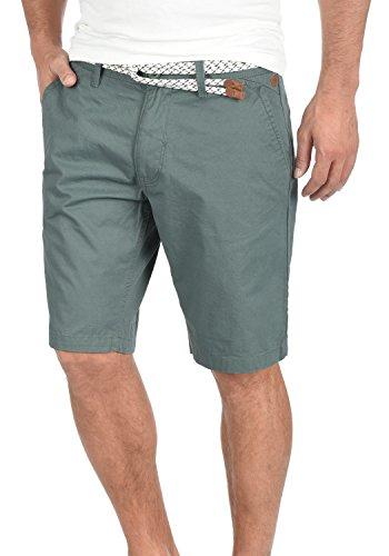 BLEND Ragna Herren Chino-Shorts kurze Hose Business-Shorts mit Gürtel aus 100% Baumwolle Balsam Green (77189)