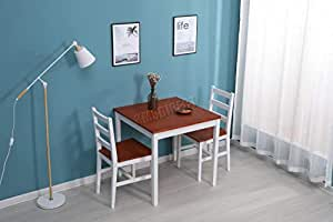 WestWood Quality Solid Pine Wood Dining Table With 2 Chairs Set Kitchen Home Breakfast Furniture Honey New