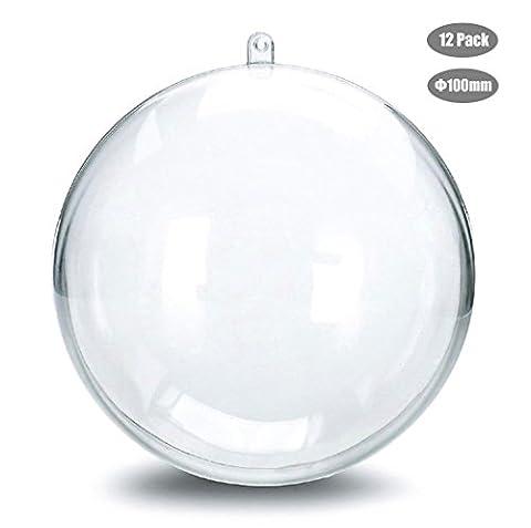 Cadrim Décorations de Noël Boule Transparent , Globe Vide en