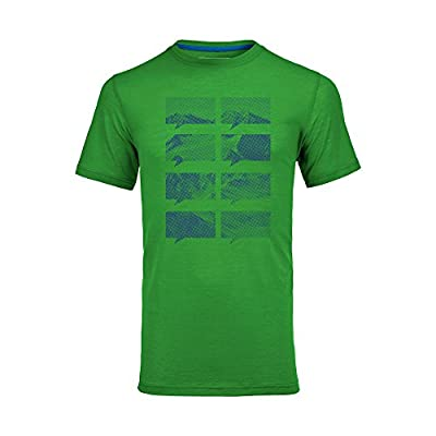 Ortovox Mountain Print Merino Cool Short Sleeve Shirt - absolute green