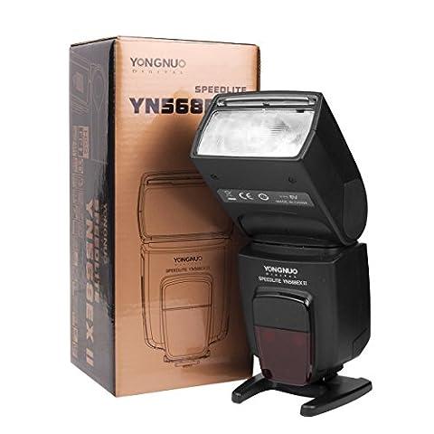 Yongnuo YN-568EX II Blitzgerät für Canon EOS Kamera mit Masterblitzfunktion (Blitzlicht Canon)