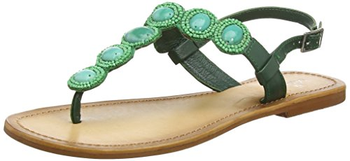 Tantra Strap Sandals with Stones - Sandalias para Mujer, Color Verde, Talla 40