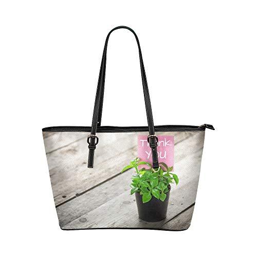 Plsdx Danke Anerkennung Große weiche Leder tragbare Top Hand Totes Taschen Kausal Handtaschen mit Reißverschluss Schulter Einkaufstasche Geldbörse Organizer für Lady Girls Womens Work -