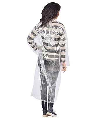 MAGIC Transparent 100% Water Proof Rain Coat|Rain Suit with Hood & Bottom for Men|Women|Girl's