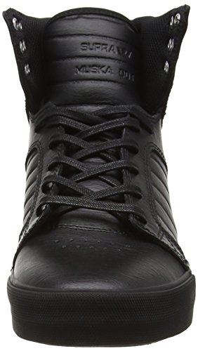 Supra Skytop, Sneakers Hautes mixte adulte Noir (Black / Black - Red)