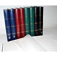Leuchtturm Clasificador sellos 60 paginas, color verde