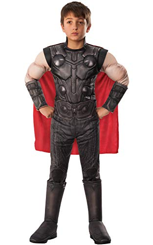 Rubie's Offizielles Avengers Endgame Thor, Deluxe Kinderkostüm, Größe S, Alter 3-4, Höhe 117 - Thor Kostüm Boy