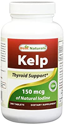 Best Naturals, Kelp 150 mcg (A Natural Source of Iodine), 300 Tablets from Best Naturals