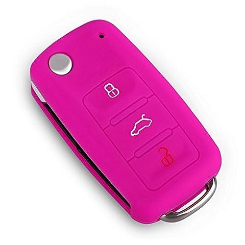 Happyit 2 Pcs Housse pour voiture Housse en silicone (Rose rouge)