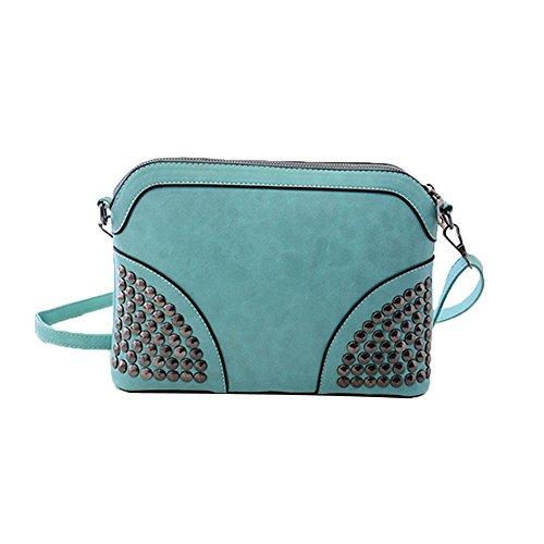 TELLW-Maglia con cerniera, da donna, borsetta a tracolla, blu (Blu) - 021