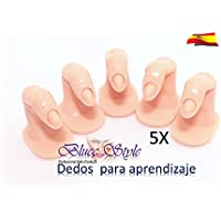 Dedos Falsos 5 Unidades - para practicar diseño de uñas(TIPS)