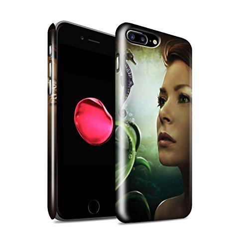 Officiel Elena Dudina Coque / Clipser Brillant Etui pour Apple iPhone 7 Plus / Poissons d'Or Design / Agua de Vida Collection Mer Profonde/Hippocampe