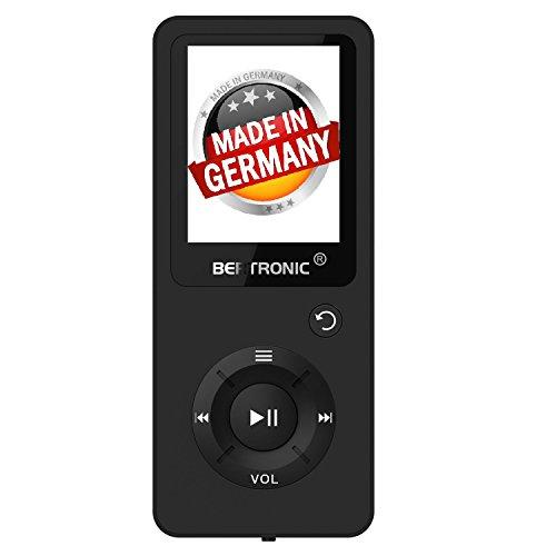 BERTRONIC Made in Germany BC02 Royal MP3-Player 16 GB ★ Bis 100 Stunden Wiedergabe ★ Radio | Portabler Player mit Lautsprecher | Audio-Player für Sport mit Micro SD-Karte & Silikonhülle