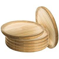 Ruibal - Platos para Pulpo de Madera - Set de 6 - Ø 22 cm Pino