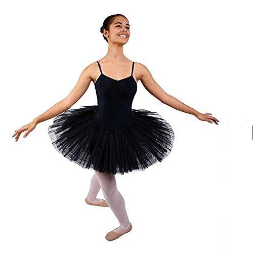 Ballett Tutu 5-lagig (Plateau) (schwarz, (Tutu Schwarzes Ballett)