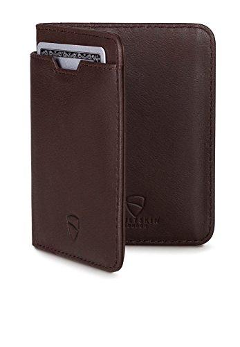 Vaultskin CITY Geldbörse mit Schutz für RFID Karten – Hochwertiges italienisches Leder – Ultradünne Außentasche und Platz für bis zu 9 Karten und Bargeld Test