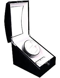 Lindberg & Sons UB8224BLCR - Estuche con rotor para relojes, 5 compartimientos, color negro