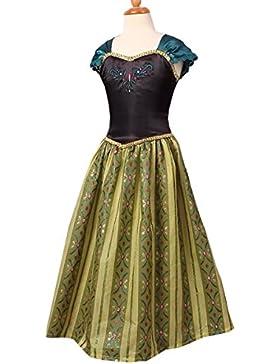 Nihiug Ice And Snow Principessa Anna Dress Costumi Halloween Dress Halloween Abbigliamento Per Bambini Abbigliamento...