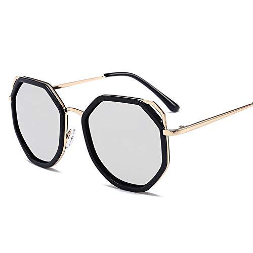 MJ Glasses Sonnenbrillen Personalisiertes polarisiertes Licht in Europa und Amerika unregelmäßiger Farbfilm reflektierend, A