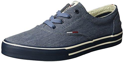 Tommy Hilfiger Herren V2385IC 2D Low-Top, Blau (Jeans 013), 44 EU