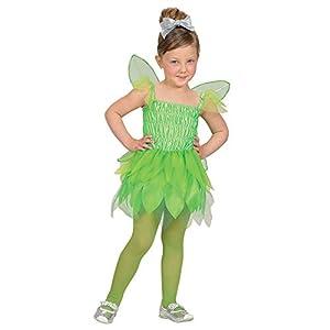 WIDMANN 48658 - Disfraz infantil de hada del bosque (98 cm), color verde