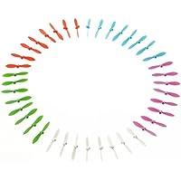 Hometalks®40pcs 5 colori Cheerson Cx-10 Eliche Set rotore dei pezzi di ricambio Mini Rc UFO Quad Copter