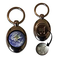 Earth - £1/€1 Metal Shopping Coin Token Key Ring