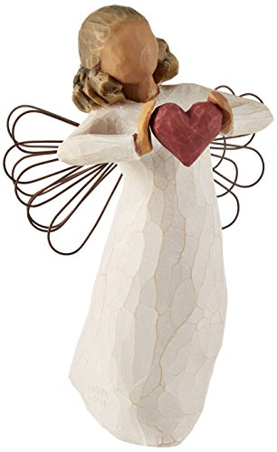 Willow Tree 26182 Engel der Liebe, 3,8 x 3,8 x 14 cm, Natur (Holz-engel-figuren)