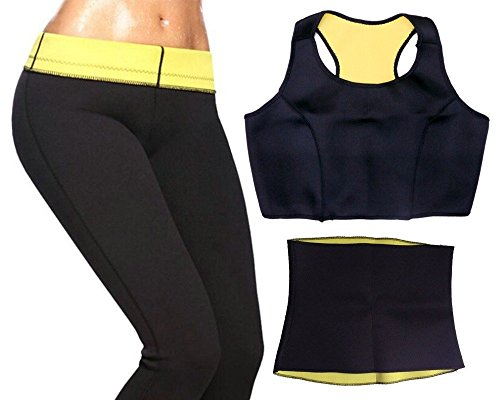 WAVE SHOP NEW Hot Shapers Sport Slimming Body Suit (Vest+Belt+Pants) For Sweating Burn Fat For Women (XX L)