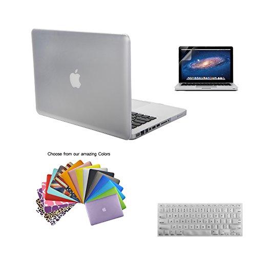 MacBook Pro 13 Shell Case, TECOOL [Ultra Sottile Serie] Plastica Caso Rigida Copertina con Copertura della Tastiera e Schermo Protezione per MacBook Pro 13.3 pollici Modello: A1278 - Pulire