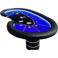 Newpokertable. Mesa de poker de 246x124 de gran calidad, led RGB y caja de recaudación