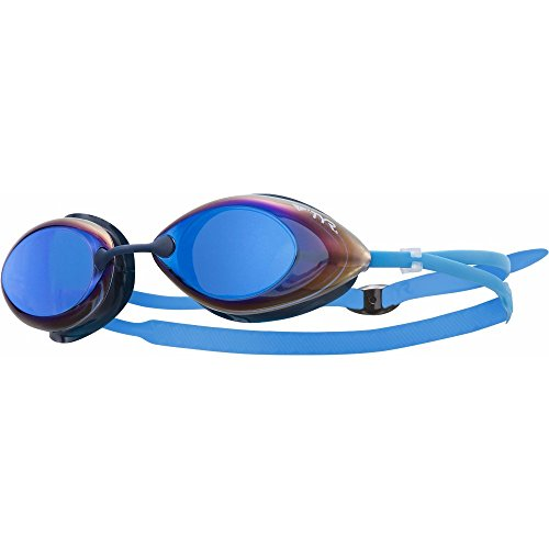 TYR Erwachsene Schwimmbrille Tracer Racing Metallized, Blau, One Size, LGTRM420