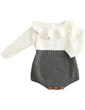 BeautyTop Kleinkind Neugeborenen Mädchen Baby Gestrickten Pullover Winter Warme Prinzessin Strampler Overall Kleidung...